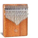 サムピアノ 21キー親指ピアノ木製プロKalimbas底穴マホガニー楽器初心者 指打楽器