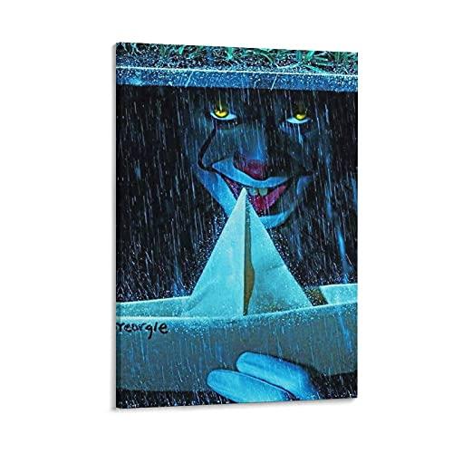 GTREW PennyWise nelle fogne Poster decorativo su tela da parete per soggiorno, camera da letto, 30 x 45 cm