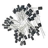 kongnijiwa 120pcs / Set 12 Valores 0.22uF-470UF Condensador electrolítico de Aluminio Kit Surtido