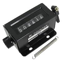 uxcell プルカウンター リセッタストロークプルカウンター 機械的回転ノブ 6デジタル  0-999999 ブラック
