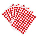 1050 PCS 3/4 Inch Round Color-Code Dot Stickers ,Color Coded Stickers Label Circle Stickers for Classroom, Office (Red)