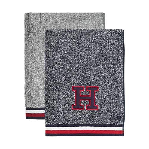 Tommy Hilfiger TH badstof melange handdoeken
