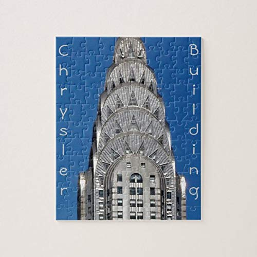 Christmas Jigsaw Puzzles, Chrysler Building Jigsaw Puzzle Game with Posters for Adults Teens Kids Large Puzzle Game Toys Gift for Loves Family & Friends 50x75 CM
