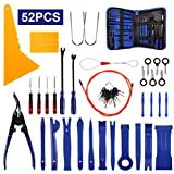 AUTDER Kit de 52 Outils de démontage de Garniture de Voiture en Plastique avec Sac de Rangement - Bleu