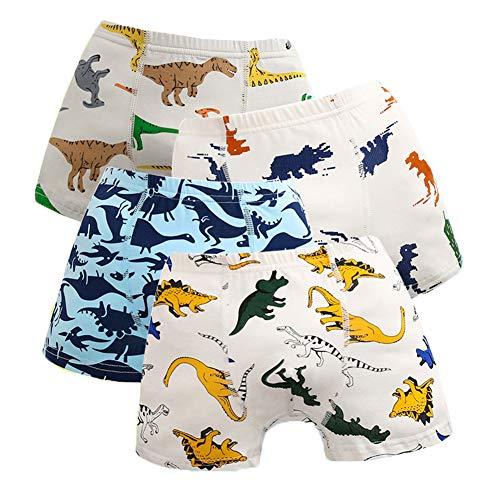 Ceguimos 4er Pack Kinder Jungen Boxershorts Unterhosen, Dinosaurier, Gr. 98/104