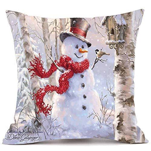 Riou Kissenbezuge Weihnachten Kissenhülle Dekokissen Throw Pillow Covers Für Autos Sofakissen Dekorative Weihnachten Super Cashmere Sofa Home Decor Kissenbezug