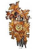 Kuckucksuhr Schwarzwald Kukus-Uhr mechanisch 1-Tag-Werk, 1 Vogel & 5 Ahorn-Blätter Musik Tanz-Figuren, Kukuksuhr Cuckoo Clock Schwarzwalduhr Kuckusuhr