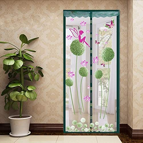 Sommer Familie praktischer Stil geschlossenes Netz Moskitonetz Fenstervorhang Vorhang Anti-Moskito magnetischer Tüll Duschvorhang Tür Bildschirm Fenster P1 B 110 x H 210 cm