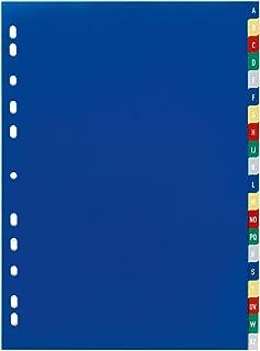 Durable 675527 Intercalaires Format A4 20 Touches Alphabétiques A-Z - Page de Garde - Perforations Universelles - Polypro ...