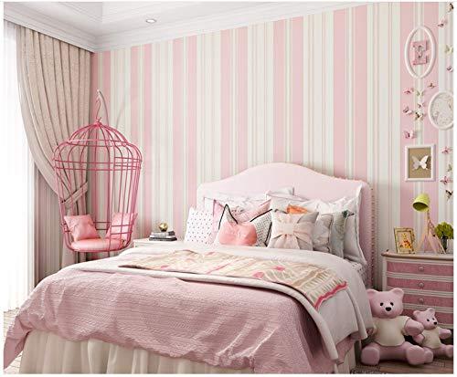 Vlies TapeteRosa Breite Vertikale Streifen Tapete DekorativFür Wohnzimmer Tv Sofa Schlafzimmer Wandverkleidung Hintergrundtapete