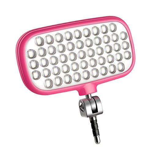 Metz mecalight LED-72 smart in Pink   LED-Videolicht für Smartphones & Tablets mit 51 LEDs und 72 LUX, eigenen Lithium-Polymer-Akku, 3 Modi, für Fotos oder Videos geeignet etc.