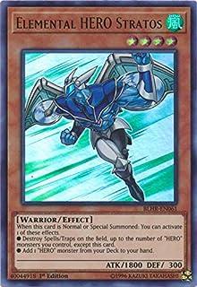 Yu-Gi-Oh! - Elemental Hero Stratos - BLHR-EN061 - Ultra Rare - 1st Edition - Battles of Legend: Hero's Revenge