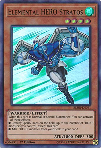 Yu-Gi-Oh! - Elemental Hero Stratos - BLHR-EN061 - Ultra Rare - 1st Edition - Battles of Legend: Hero's Revenge