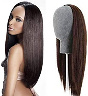 RemeeHi Beauty Long Silky Straight Hair 3/4 Half Wig Real Human Hair 24 Colors for Black Women 15 Inch 140g 27# Strawberry Blonde