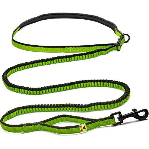 Hundefreund Laufleine für kleine Hunde bis 15 kg - Besonders leichte Dehnbare Joggingleine zum freihändigen Laufen | Schlanke Größe bis 90 cm Bauchumfang | Kinderwagen schieben | Wandern