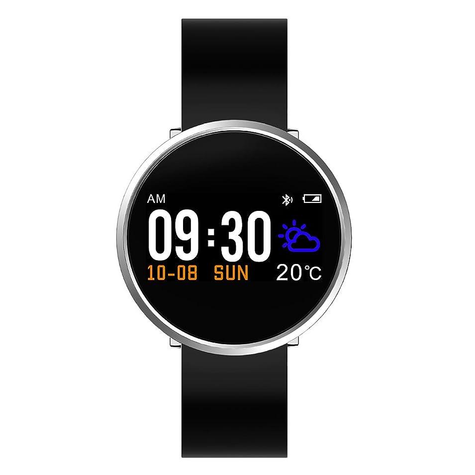 メイン運ぶ取り扱いRaiFu スマート ブレスレット タッチスクリーン スマート ブレスレット ハートレート 血圧計 スリープ 活動健康 トラッカー 0.96インチ ホワイト