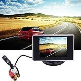 Coche Marcha Atrás Sistema de Ayuda para aparcar con visión de TV vídeo 3.5TFT pantalla LCD Auto Monitor para vcd/DVD lianle