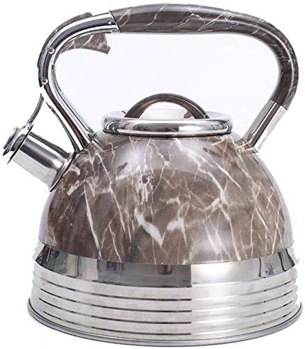 Stainless Steel Fluitketel, 3.5L Camping Stove Top Kettle RVS Theepot Food Grade Tea Pot met Heat-Proof Handle Verbrandingsbeveiliging Handle for ALLE een kookplaat