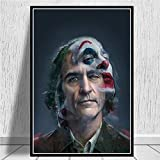 SDFSD Joker Poster Joaquin Phoenix Hollywood Star Movie Comics Poster Prints Canvas Art Painting Wall Pictures para la Sala de Estar Inicio 30X40CM