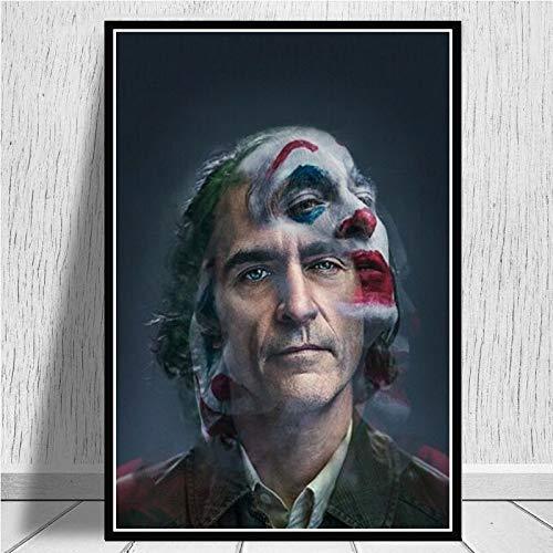 LKJHGU Kein Rahmen Joker Poster Joaquin Phoenix Hollywood-Star Film Comics Poster Drucke Leinwand Kunst Gemälde Wandbilder für Wohnzimmer nach Hause