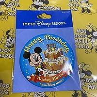 ミッキーマウス バースデー 缶バッジ