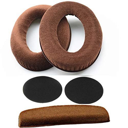 Rhinenet Almohadillas de repuesto para auriculares Sennheiser HD598, HD598SE, HD598CS, HD515, HD555, HD595, HD518 (marrón)