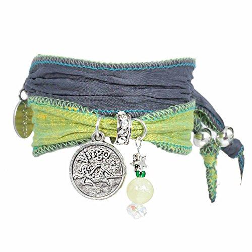 Anisch de la Cara damesarmband jong - Signs of Zodiac sterrenbeeld armband van Indiase Saris Signs of Zodiac - artnr. 2260-uur.