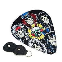 Guns N' Roses ガンズ アンド ローゼズ ドロー ギターピック ウクレレピック 6枚セット エレキギター プレクトラム 弦楽器 ティアドロップ 快適な手触り 超軽量 Guitar Picks 3種類の厚み0.96mm/ 0.71mm/ 0.46mm