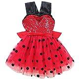 None/Brand Vestido De Fiesta De Lentejuelas para Niñas, Vestido De Princesa De Mickey, Disfraz De Mariquita De Halloween para Niños