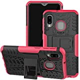 Galaxy A10E Case, Viodolge [Shockproof] Rugged Dual Layer Protective Phone Case Cover with Kickstand for Samsung Galaxy A10e (Pink)
