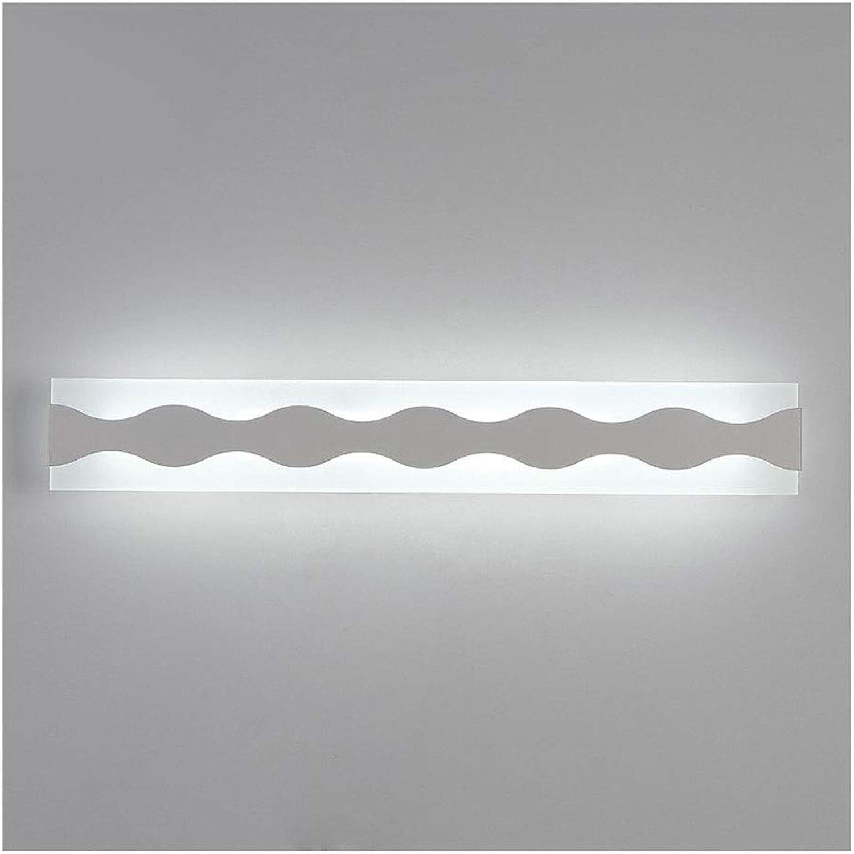 Spiegelleuchte LED-Badezimmer-Eitelkeitsspiegel-Licht wasserdicht und Anti-Fog-Schlafzimmer-Toiletten-Frisierkommode-Lampe einfache Persnlichkeit Acryl LED Spiegellicht (Farbe   40cm)