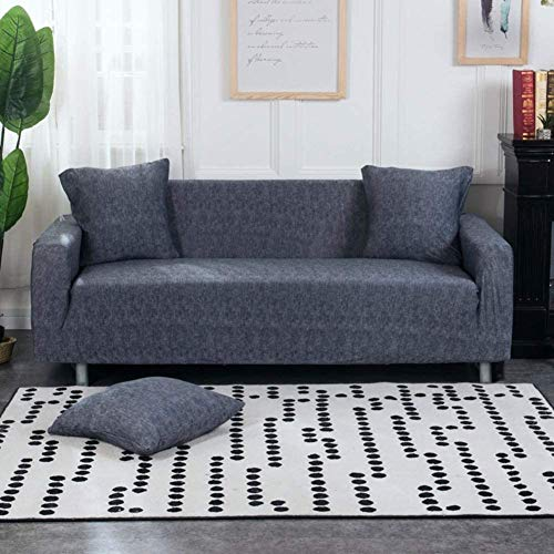 Lukzer Universal Sofa Cover 3 Seater Slipcover with 2 Cushion Covers Big Elasticity Super Soft Stretchable & Flexible Couch Protector (Lining / 180 – 230cm)