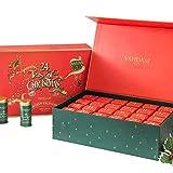 VAHDAM, Calendario Avvento Tisane 2021 - 500g | Lussuosa confezione regalo con 24 tè sfusi assortiti | 24 Gusti di Tè in Bustina | Ingredienti 100% naturali | Regali per uomini e donne