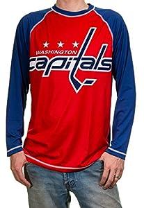 NHL Mens Performance Long-Sleeve Rash Guard (Washington Capitals, Medium)
