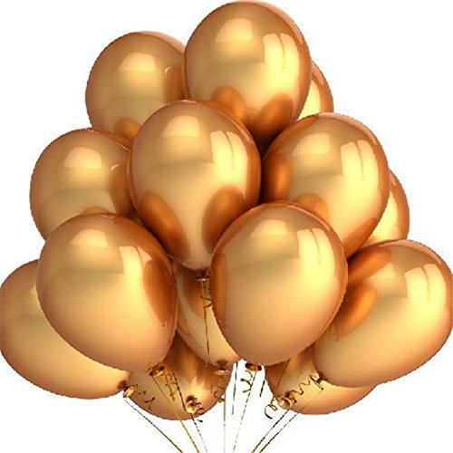 """100pcs/lot 10"""" Gold Pearl Latex Balloons Round Metallic Helium Quality Balloons for Wedding Birthday Party"""