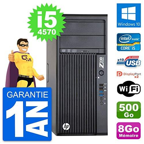 HP PC Tower-Workstation Z230 Intel i5-4570 RAM 8 GB Festplatte 500 GB Windows 10 WLAN (überholt)