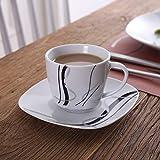 VEWEET Tafelservice 'Fiona' aus Porzellan 60 teilig | Kombiservice beinhatlet Kaffeetassen 175 ml, Untertasse, Dessertteller, Speiseteller und Suppenteller| Komplettservice für 12 Personen - 8