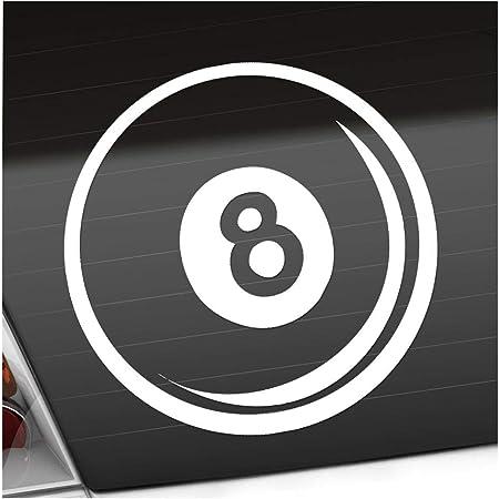 Acht Ball 8 Billard Pool Snooker 50mm Rundschreiben Auto Motorrad Aufkleber X4 Vinyl Stickers Garten
