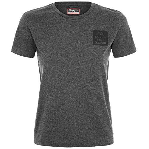 Kappa Logo BARCHIL, T-Shirt Donna, Grigio, XL