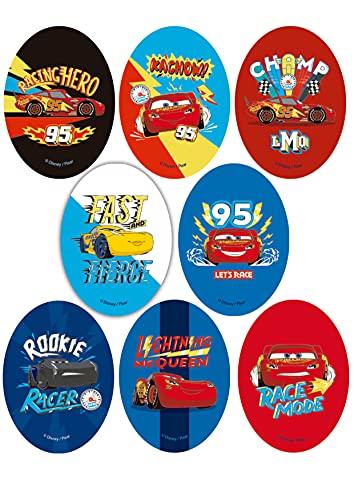 8 Parches termoadhesivos para la ropa. Apliques serigrafiados para planchar sobre camisetas, bata escolar, jeans, chaquetas. Diseño Disney Cars - REF.6882-U8