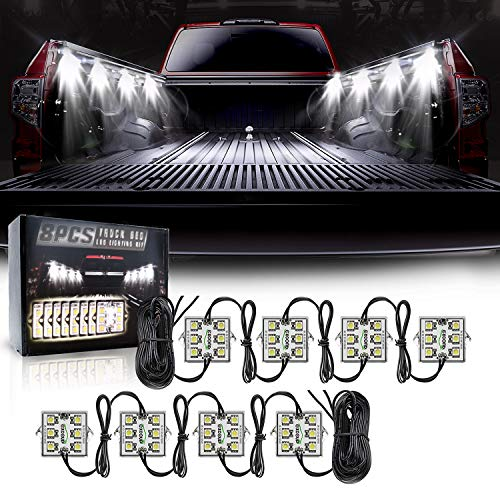 8PCS LED Truck Pickup Bed Lights Kit, 48 LEDs Truck Cargo Pickup Bed Lighting...