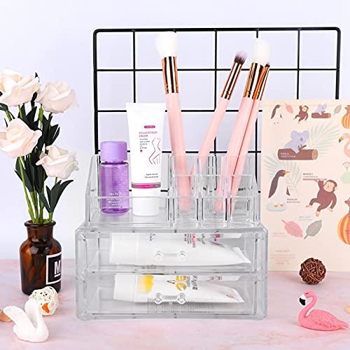 Uxsiya Caja de Almacenamiento cosmética Impermeable del envase cosmético para el Uso Diario para el hogar
