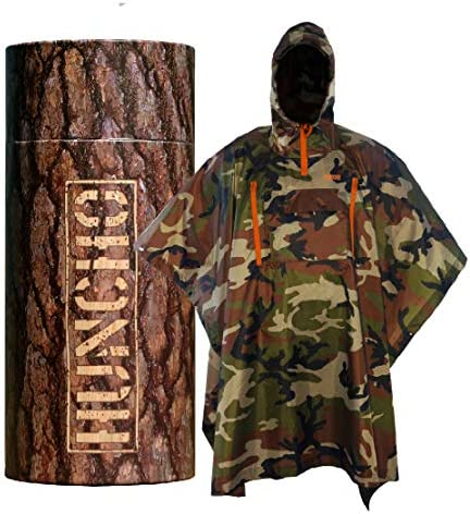 Rain Poncho with Breathable Zippers and Chest Pocket Woodland Camo Multi Functional Gear Waterproof product image
