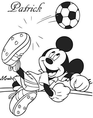 Wall Decor personnalisé Mickey Mouse Joue de Football Art Mural Autocollant, Mickey Mouse Enfants Autocollant Chambre à Coucher.