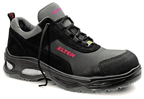 ELTEN Miles Low ESD S3 Herren Sicherheitsschuhe, Arbeitsschuhe, Sicherheitshalbschuh, Zertifiziert nach EN ISO 20345 : S3, Kunststoffkappe, Wellmaxx (Schwarz), EU 43