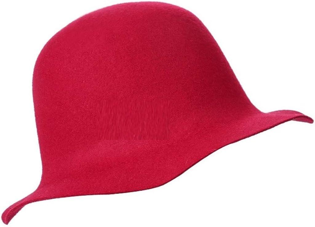 Women Buckle Fedora Hat Ladies Bu Color Solid Wool 100% quality warranty Fisherman National uniform free shipping