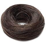 SEGO Capelli Veri Extension Chignon Elastico Effetto Naturale Voluminoso Capelli Lisci Magic Hair Bun Coda Updo Crocchia 25g #2 Marrone Scuro