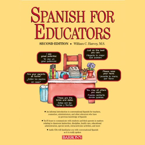Spanish for Educators audiobook cover art