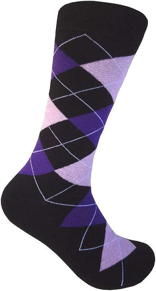 Triple M Plus Black With Multicoloured Dress Sock