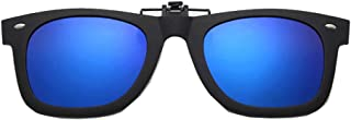 Embryform - Gafas de sol con clip, unisex, polarizadas, sin montura, con clip de apertura hacia arriba se pueden enganchar en las gafas graduadas, gafas de sol con clip
